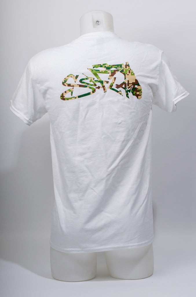 Short Sleeve Digi Camo White