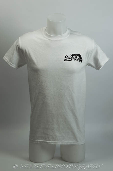 Short Sleeve Logo White