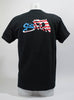Short Sleeve American Flag Black