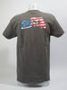 Short Sleeve American Flag Grey