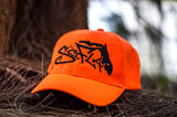 Hat HUNTERS ORANGE/BLACK STITCHING