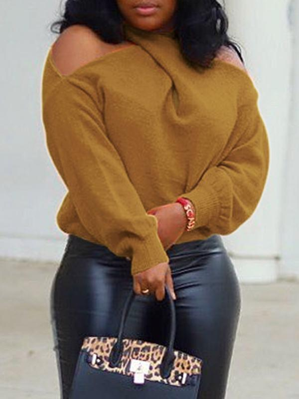 Multi-way Cold Shoulder Sweater