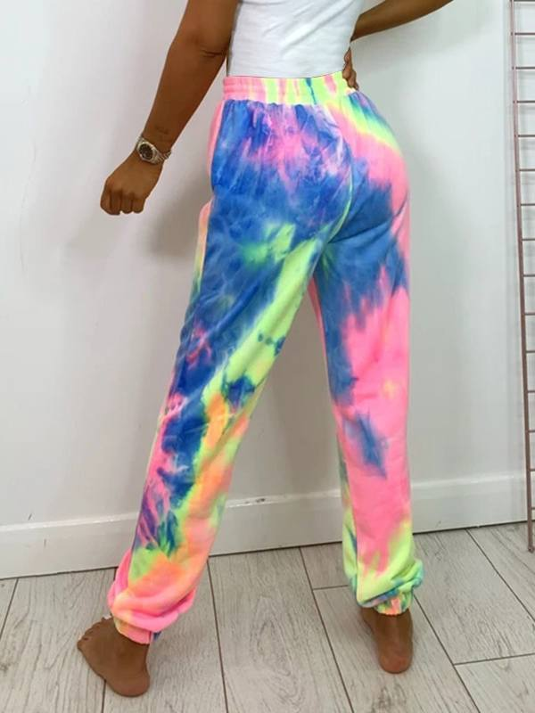 Multicolor Drawstring Jogger Pants