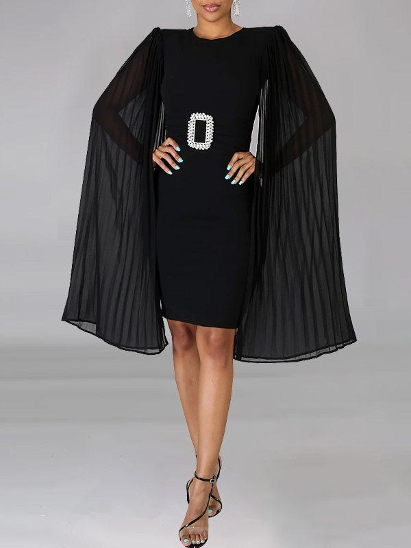 Cape Bodycon Dress