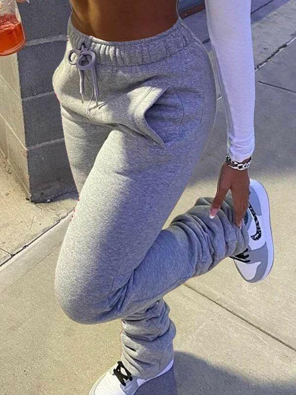 Stacked Sweatpants
