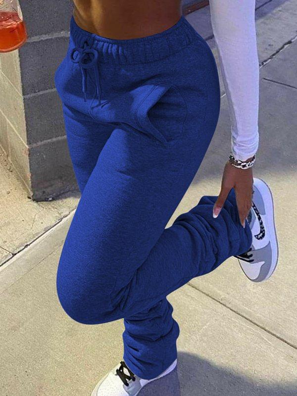 Drawstring Stacked Pants