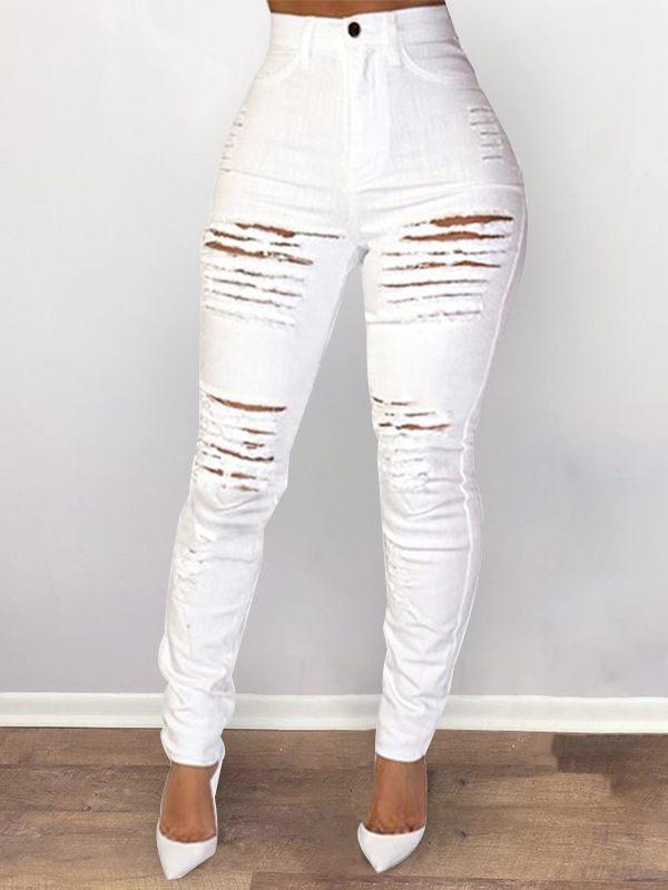 Ripped High-Waist Skinny Jeans - shipped on 5/1