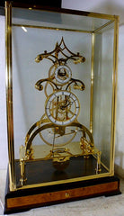 Glass Gear Skeleton Clock