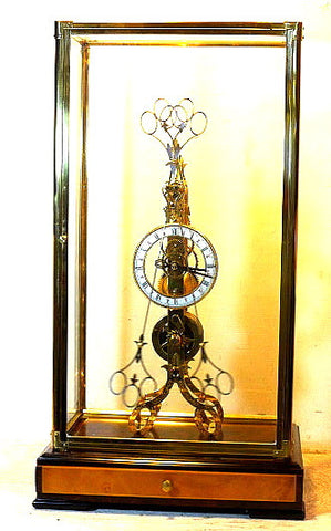 Picture of Scissors Pendulum Skeleton Clock