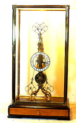 Scissors Pendulum Skeleton Clock