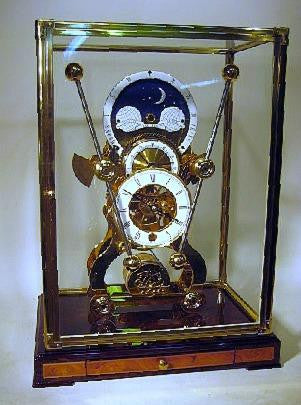 Picture of Moon Dial Grasshopper Skeleton Clock