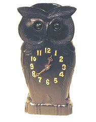 Animated Eyes Wooden Owl Clock