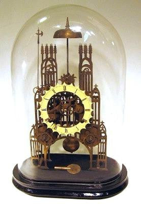 Picture of Double Chain Fusee Striking Skeleton Clock