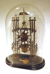 Architectural Chain Single Fusee Skeleton Clock