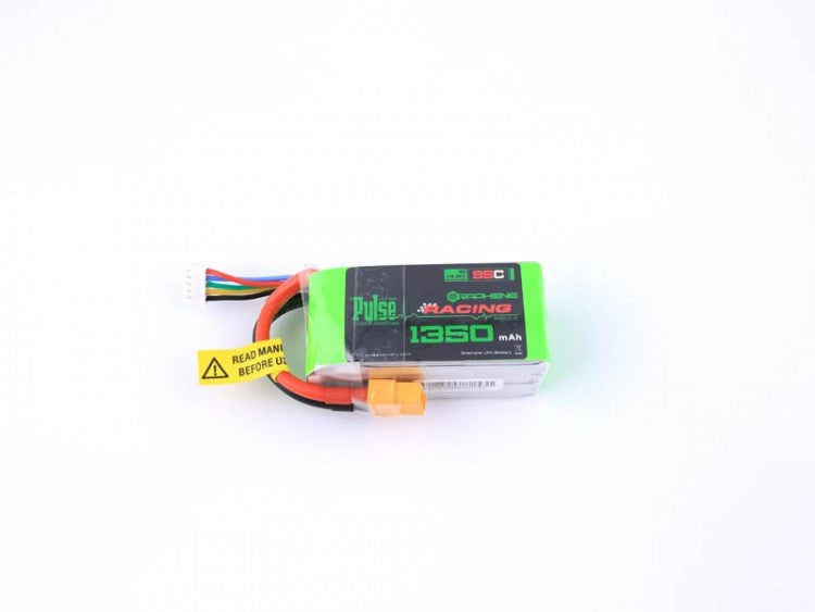 PULSE Graphene 1350mAh 4S 14.8V 95C Battery w / XT60 165gr