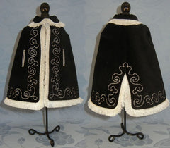 Black Velvet Cloak - Old B Doll Clothing Company