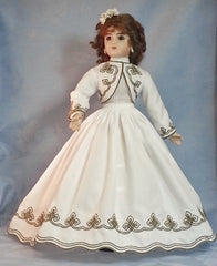 Modele' Camille's Strolling Dress with Chemisette - Old B Doll Clothing Company