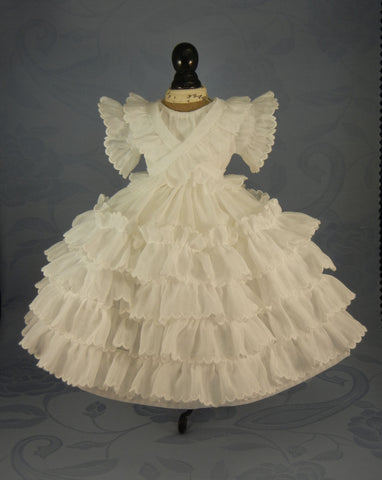 White Fichu Dress Pattern & Instructions