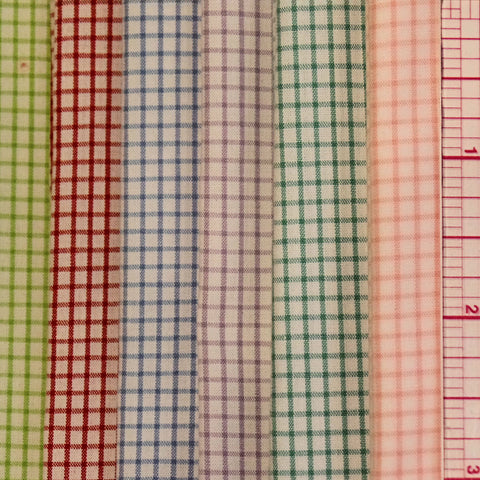 100% Cottons: Pima Checkerboard Windowpane - 45""