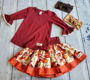 "Falling Leaves"" Lulu Skirt"