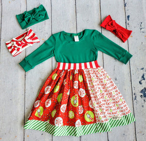 The Cat In The Hat Knows A Lot About Christmas 3/4 Sleeve Dress