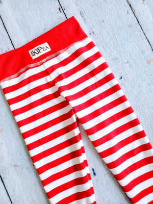 Candy Cane Straight Leggings