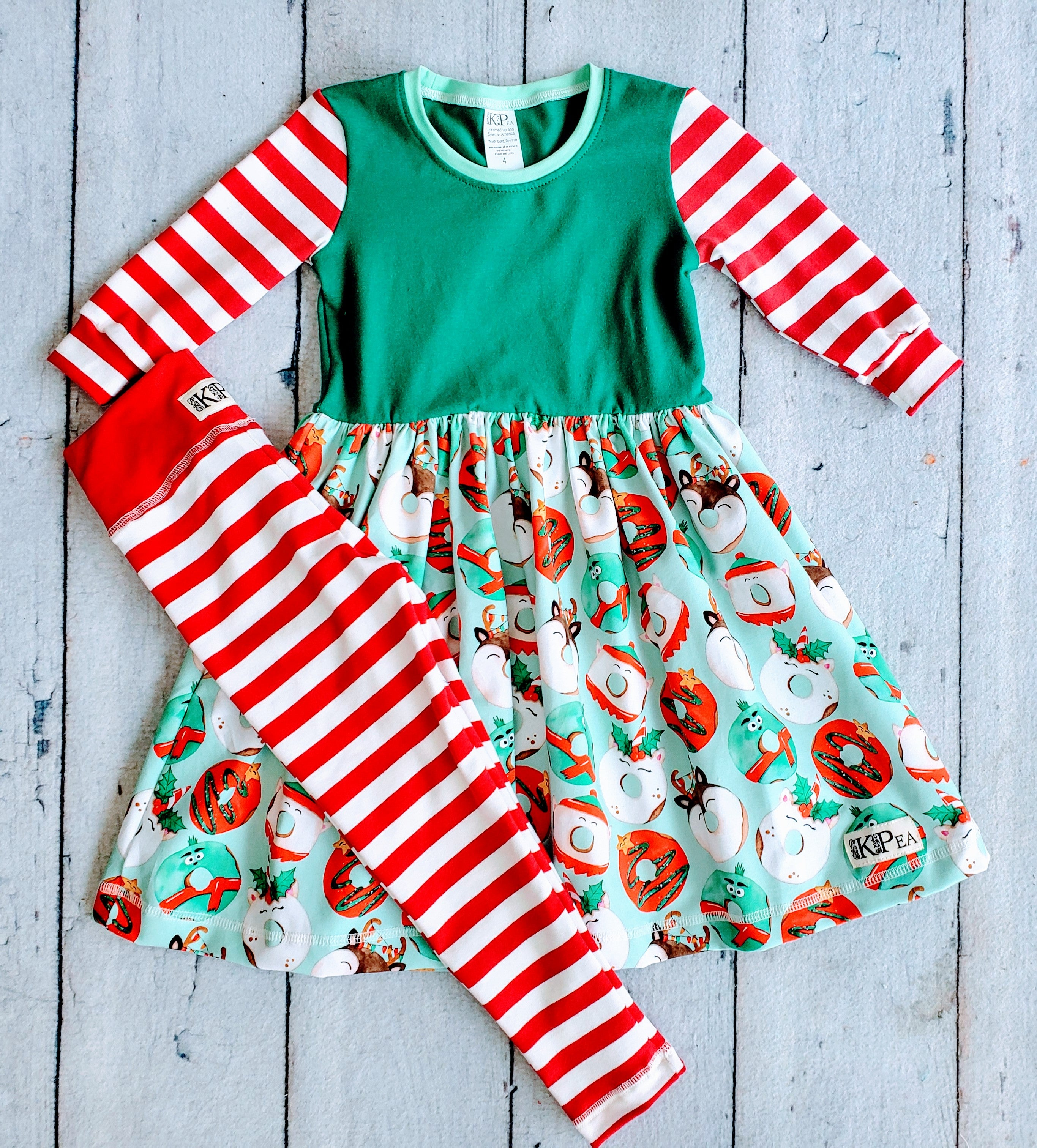 Christmas Kreme 3/4 Sleeve Lap Dress