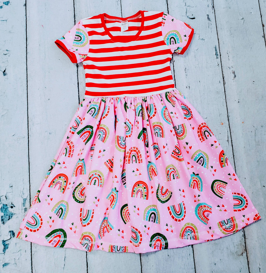 "'A Magical Christmas"" Cap Lap Dress(ships in a week)"