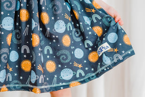 "Shoot For The Moon"" Cap Lap Dress(ships in 2 weeks)"