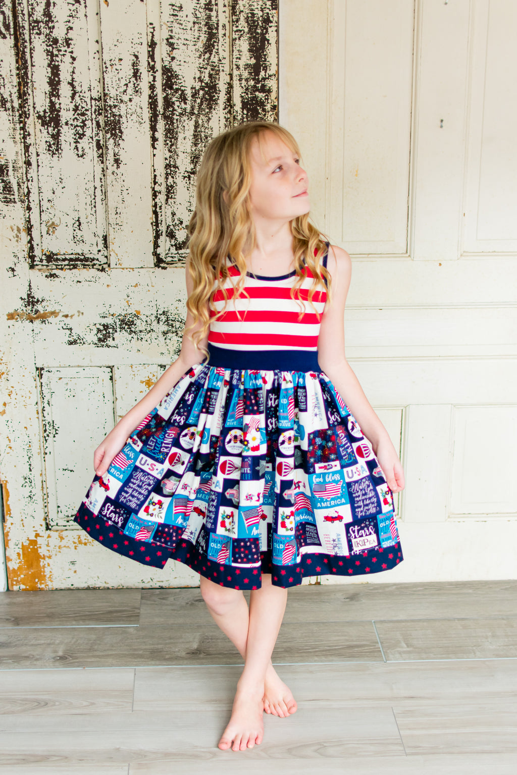 America the Beautiful Amy Dress(ships in a week)