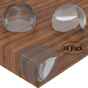 Baby Proofing Corner Guards Clear Corner Protectors Furniture Safety Bumpers (16 Pack)