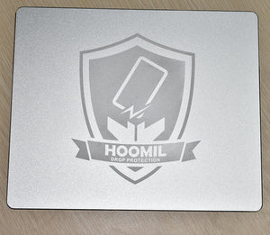 Hard Silver Metal Aluminum Mouse Pad Mat Smooth Magic Ultra Thin Double Side Mouse Mat