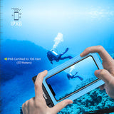 Waterproof Phone Case, IPX8 Certified Waterproof Phone Pouch Dry Bag-2 Packs