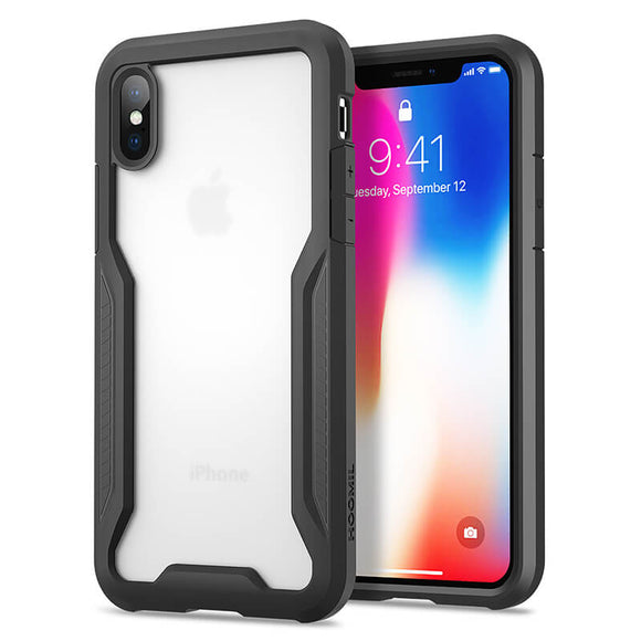Shock Absorption Phone Cover for Apple iPhone X/XS Smartphone (5.8 inches) - Semi Transparent
