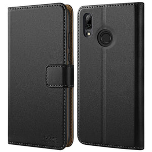 Huawei Honor 10 Lite Case,High Quality Wallet Business Phone Case Cover (Black)