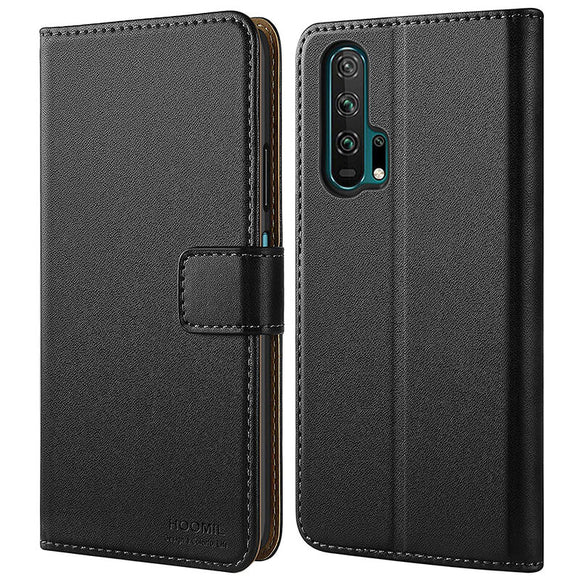 Huawei Honor 20 Pro Case,High Quality Wallet Business Phone Case Cover (Black)