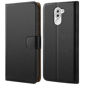 Huawei Honor 6X Case,High Quality Wallet Business Phone Case Cover (Black)