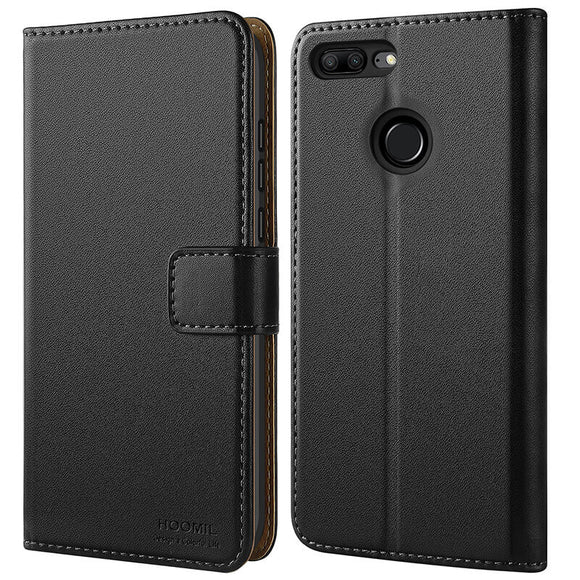 Huawei Honor P9 Lite Case,High Quality Wallet Business Phone Case Cover (Black)