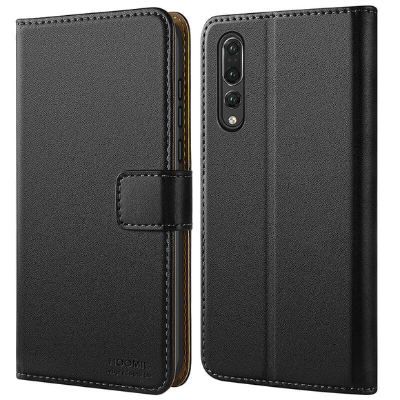 Huawei P20 Pro Case,Premium Leather Flip Wallet Phone Case Cover (Black)