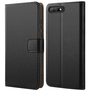 Huawei Y6 2018 Case Cover-Premium Leather Flip Wallet Phone Case Cover