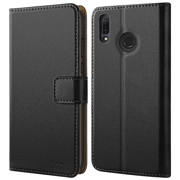 Huawei Y9 2019 Case Cover-Premium Leather Flip Wallet Phone Case Cover