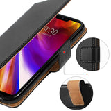 LG G7 ThinQ Cases ,Premium Leather Flip Wallet Phone Case Cover