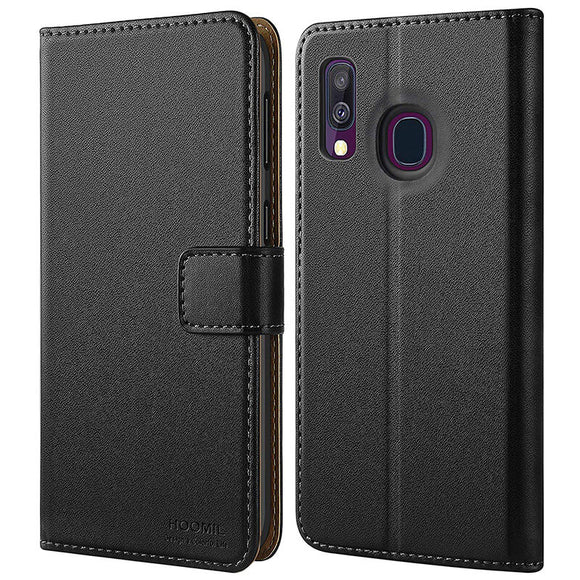 Samsung Galaxy A40 Case,Premium Leather Flip Wallet Phone Case Cover