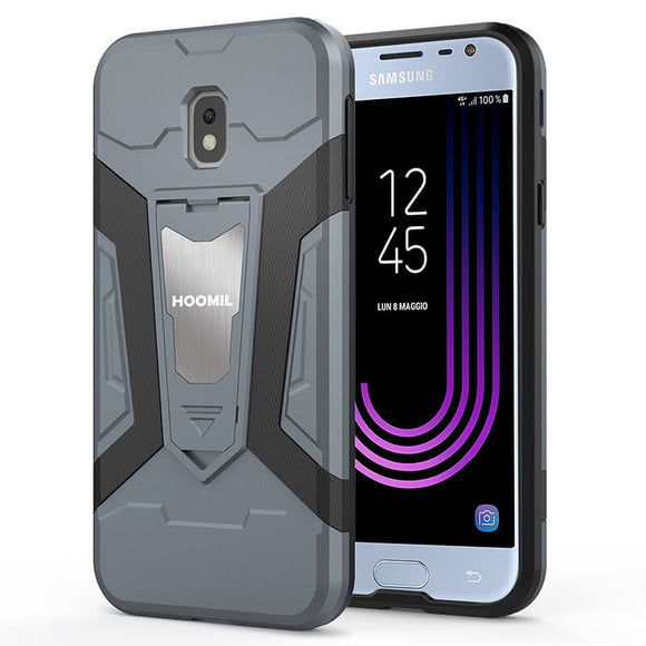 Samsung Galaxy J3 2017 Hybrid Dual Layer Shockproof Hard CoverGray