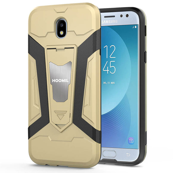 Samsung Galaxy J7 2017 Hybrid Dual Layer Shockproof Hard CoverGold