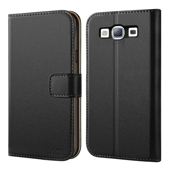 Samsung Galaxy S3 Case,Premium Leather Flip Wallet Phone Case Cover (Black)