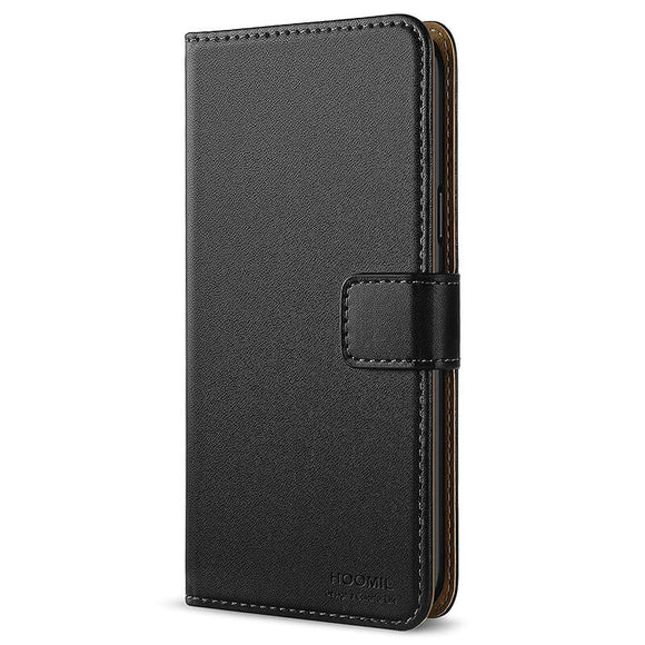 Samsung Galaxy S9 Case,Premium Leather Flip Wallet Phone Case Cover (Black)