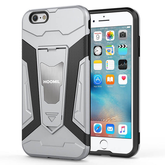 iPhone 6 Plus Hybrid Dual Layer Shockproof Hard CoverSilver
