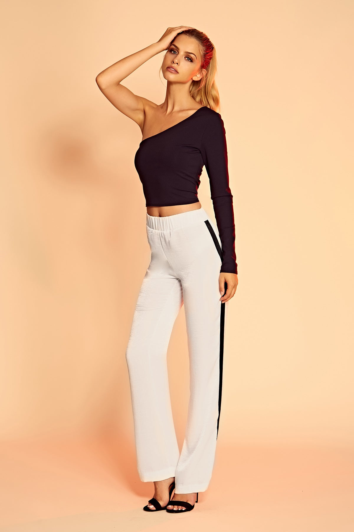 Charlie Track Pant in Ivory. - size M (also in L,S,XS) Donna Mizani