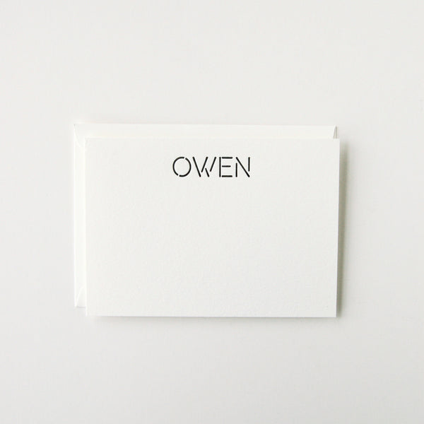 Owen - Personalized Stationery Set
